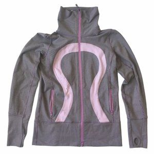 LULULEMON In Stride Zip Striped Jacket 2
